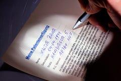 Le testament de vie est écrit Images libres de droits