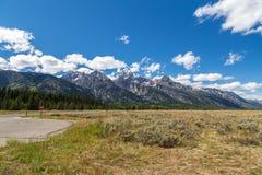 le teton panoramique Etats-Unis de stationnement de national grand visualisent le Wyoming Image libre de droits