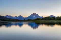 le teton panoramique Etats-Unis de stationnement de national grand visualisent le Wyoming Photos libres de droits