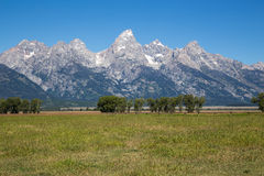 le teton panoramique Etats-Unis de stationnement de national grand visualisent le Wyoming Images libres de droits