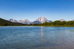 le teton panoramique Etats-Unis de stationnement de national grand visualisent le Wyoming Photo libre de droits