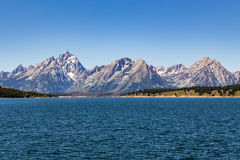 le teton panoramique Etats-Unis de stationnement de national grand visualisent le Wyoming Image libre de droits