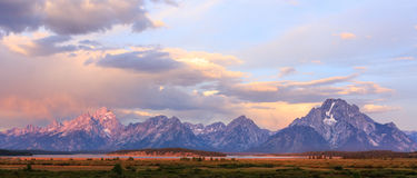 le teton panoramique Etats-Unis de stationnement de national grand visualisent le Wyoming Images stock