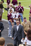 Le Texas A&M contre le football du Kansas Images libres de droits