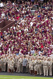 Le Texas A&M contre le football du Kansas Image stock