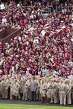Le Texas A&M contre le football du Kansas Image stock