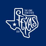 Le Texas a rapporté la conception de T-shirt l'état solitaire d'étoile Illustration de vecteur de vintage illustration de vecteur