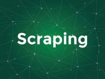 Le texte blanc d'illustration sur le fond vert pour l'éraflure de site Web est éraflure de données utilisée pour extraire des don illustration de vecteur