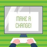 Le texte d'écriture de Word apportent une modification Concept d'affaires pour l'approche différente de nouvelles occasions de bu illustration libre de droits