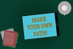 Le texte d'écriture de Word font votre propre chemin Le concept d'affaires pour soit le créateur de votre destin et occasions dem illustration de vecteur