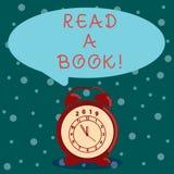 Le texte d'écriture de Word a lu un livre Concept d'affaires pour l'activité traditionnelle de littérature Enjoy apprendre de nou illustration de vecteur