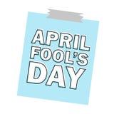 Le texte d'April Fools Day et l'élément drôle dirigent l'illustration pour la carte de voeux Photo stock