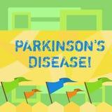 Le texte d'?criture ?crivant Parkinson s est la maladie Désordre de système nerveux de signification de concept qui affecte le bl illustration de vecteur
