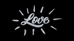 Le texte de clignotement d'amour souhaite des salutations de particules, invitation, fond de célébration illustration de vecteur