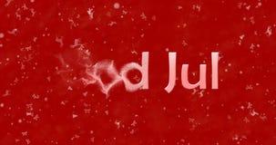 Le texte de Joyeux Noël dans Dieu norvégien juillet se tourne vers la poussière de l Images libres de droits