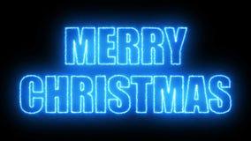 Le texte de Joyeux Noël sur le noir, 3d rendent le fond, ordinateur se produisant pour la conception de fête de vacances Photo stock