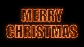 Le texte de Joyeux Noël sur le noir, 3d rendent le fond, ordinateur se produisant pour la conception de fête de vacances Photographie stock libre de droits