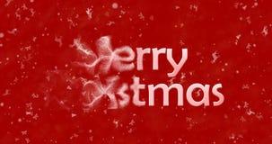 Le texte de Noël heureux dans le Chinois se tourne vers la poussière de la gauche sur b rouge Image libre de droits