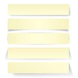 Le texte de papier bouillonne clip-art Photographie stock libre de droits