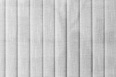 Le textile vertical blanc aveugle la texture Photo libre de droits