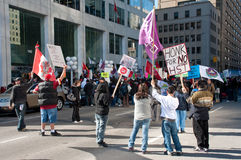 Le TGV de protestation d'indigènes à Ottawa Images stock