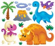 Le thème de dinosaure a placé 2 Photos libres de droits