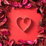 Le thème de Valentine avec la forme de coeur Images libres de droits