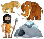 Le thème préhistorique a placé 2 illustration libre de droits