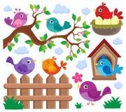 Le thème stylisé d'oiseaux a placé 2 illustration libre de droits