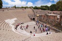 Le théâtre à Pompeii images stock