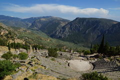 Le théâtre antique, Delphes, Grèce Image stock