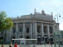 Le théâtre a appelé Burgtheater à Vienne, Autriche Photographie stock