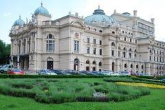 Le théâtre baroque de type établi en 1892 à Cracovie Images libres de droits