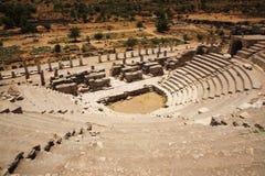 Le théâtre Ephesus d'Odeon Images libres de droits