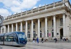 Le théâtre grand au Bordeaux français de ville Images libres de droits