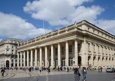 Le théâtre grand au Bordeaux français de ville Photos libres de droits