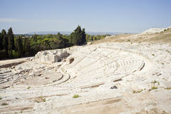 Le théâtre grec de Siracusa Image libre de droits