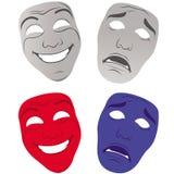 Le théâtre masque triste et heureux Photographie stock libre de droits