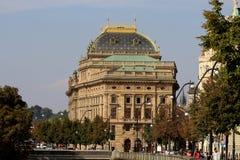 Le théâtre national à Prague Photo libre de droits