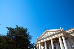 Le théâtre national dans Oradea Photographie stock