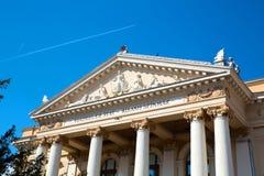 Le théâtre national dans Oradea Photos stock