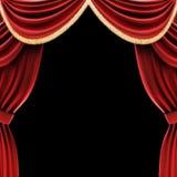 Le théâtre ouvert drape ou les rideaux en étape Image libre de droits