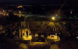 Le théâtre romain de Volterra image libre de droits