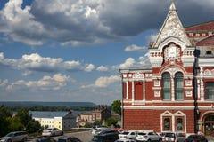 Le théâtre scolaire de drame de Samara de M Gorki à la place de Chapayev Le théâtre a été établi en 1888 photographie stock libre de droits