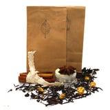 Le thé avec s'est levé Photos libres de droits
