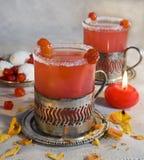 Le thé de cerise Photographie stock