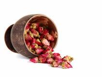 Le thé de l'thé-s'est levé des bourgeons. Image libre de droits