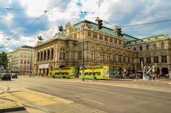 Le théatre de l'opéra d'état de Vienne, Autriche images stock
