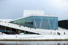 Le théatre de l'opéra d'Oslo Images libres de droits