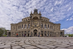 Le théatre de l'opéra de Semper de Dresde Image stock
